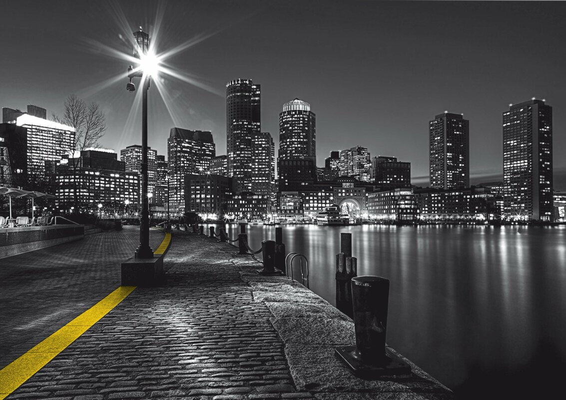 "Boston Harbor 11.8' L x 106"" W Wall Mural"