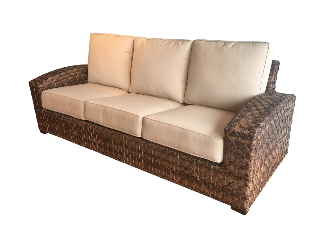 Lankford Sunbrella Patio Sofa with Cushions