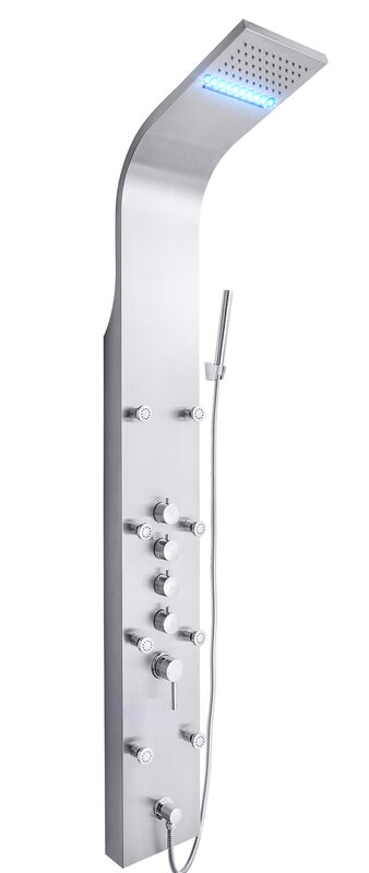 Rainfall Waterfall Dual Function Fixed Shower Panel