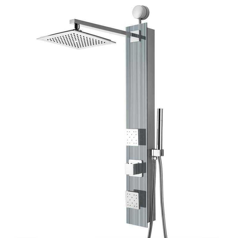 "Rainfall 32.8"" Shower Panel with Adjustable Head"