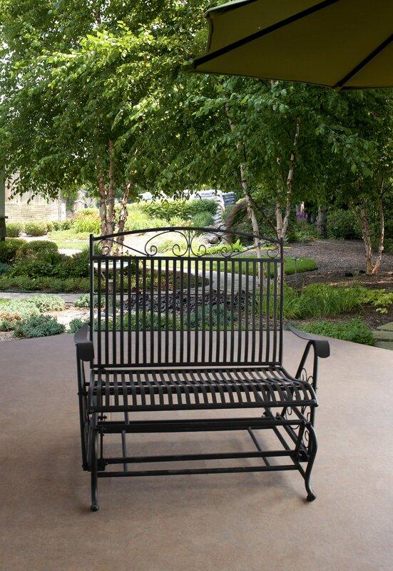 Criner Courtyard Glider Bench
