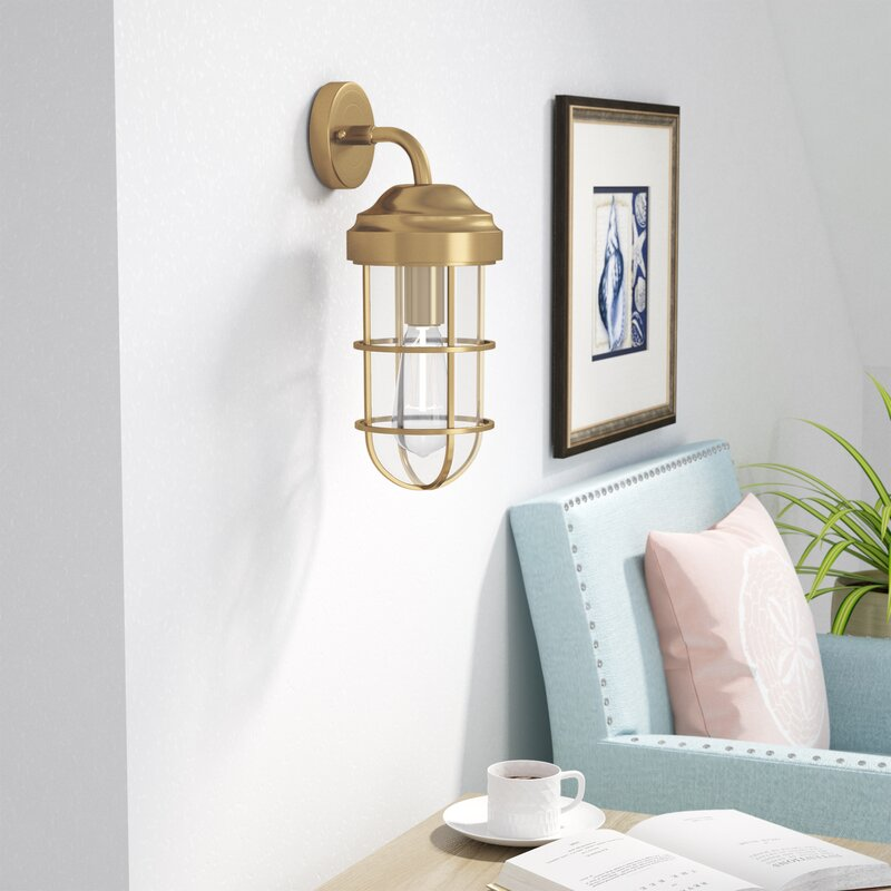 Humphries 1-Light 60W Armed Sconce