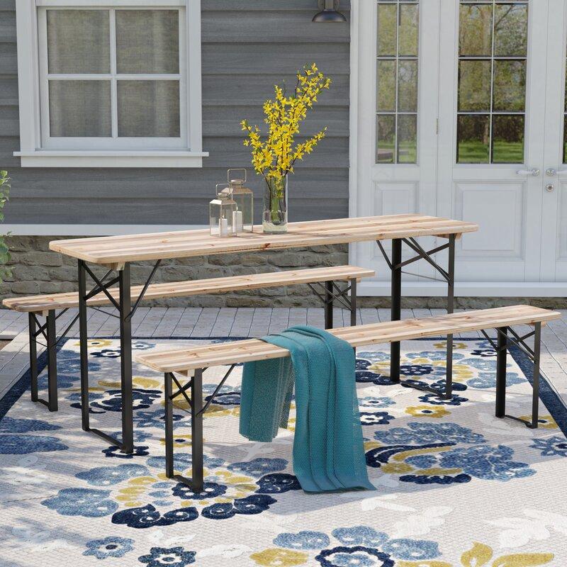 Baumgarten Folding Solid Wood Picnic Table