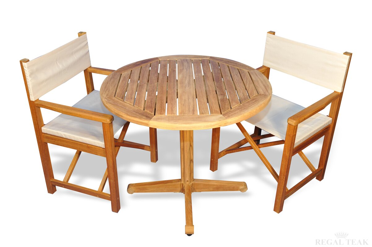 Bodalla 3 Piece Teak Sunbrella Dining Set
