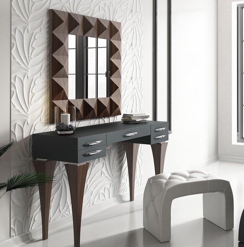 Fallinerlea Bedroom Makeup Vanity Set with Mirror