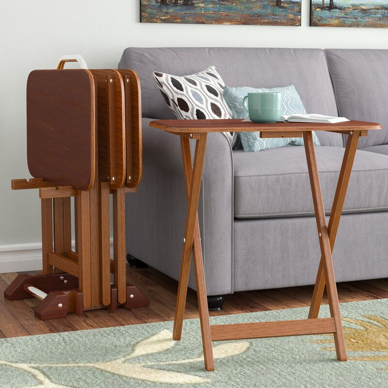 Berne 5 Piece Tray Table Set