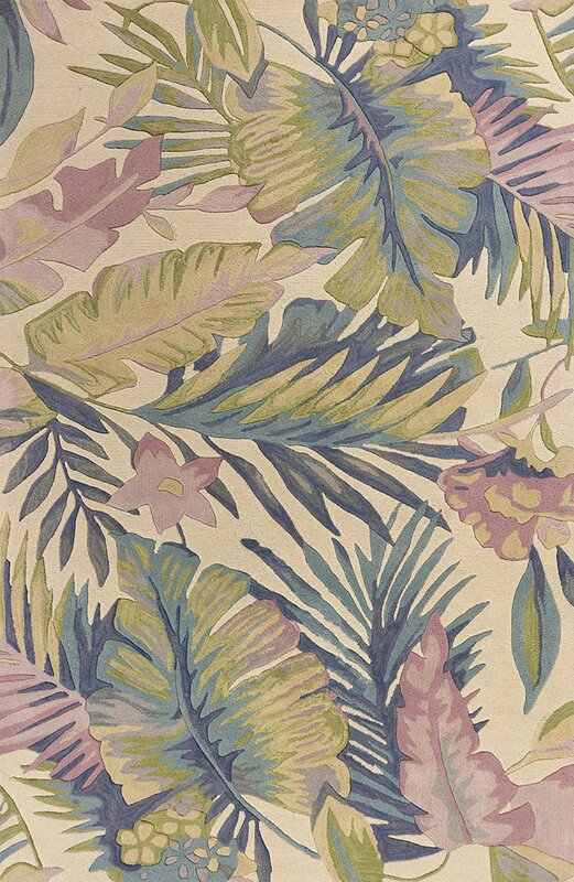 Remington Tropics Hand-Tufted Wool Green/Pink Area Rug