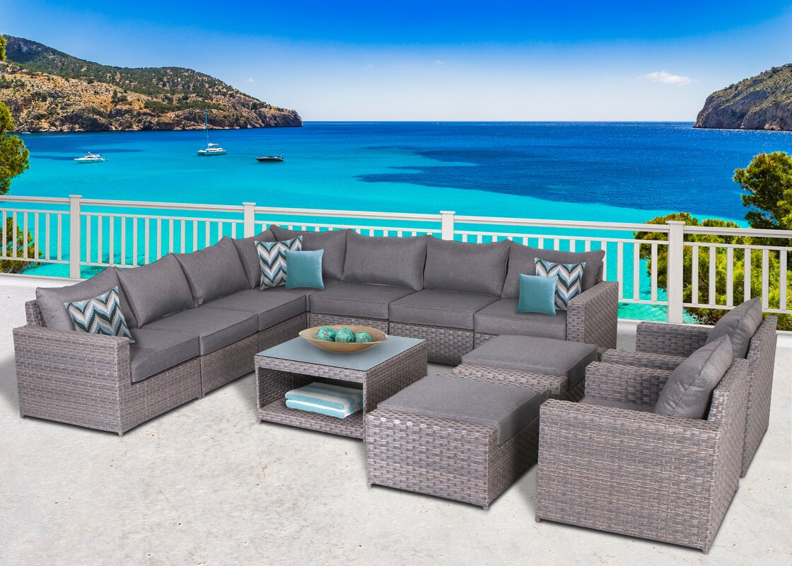 Goudreau 12 Piece Sectional Set with Cushions