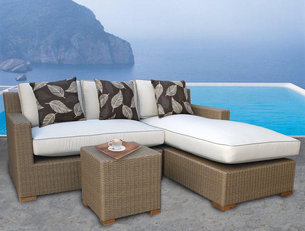 Gates 3 Piece Sunbrella Sectional Set with Cushions