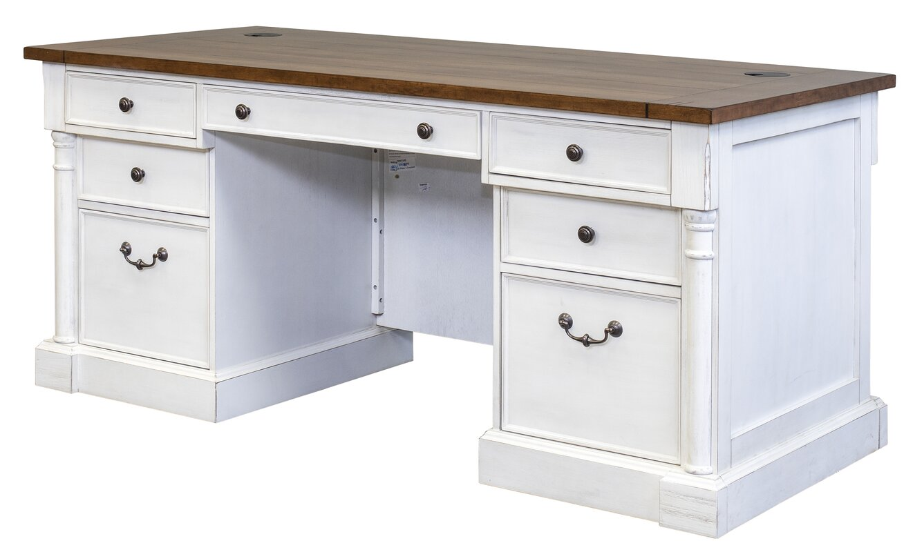 Chmura Executive Desk With White Base