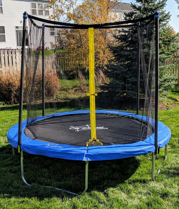 Backyard 8' Round Trampoline with Safety Enclosure