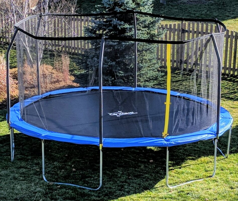 Backyard Jump 15' Round Trampoline with Safety Enclosure