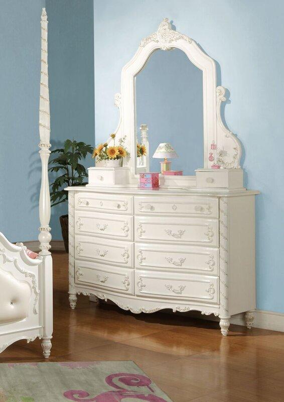Eshelman 10 Drawer Dresser with Mirror