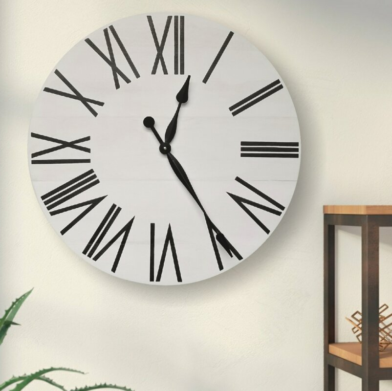 Oversized Vanvalkenburg Farmhouse Wall Clock