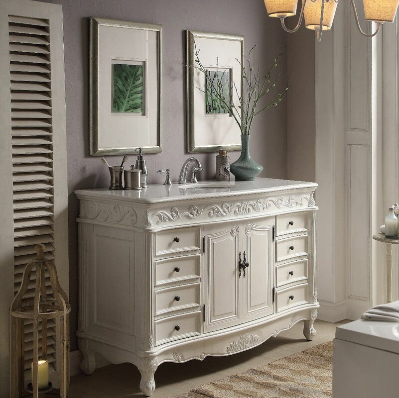"Conradine 56"" Single Bathroom Vanity Set"