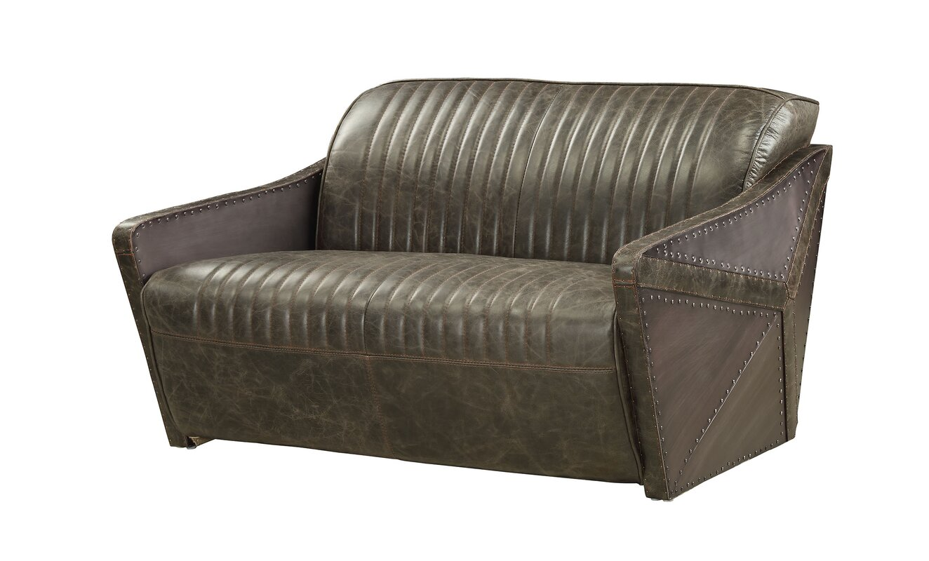 Genuine Leather Dietrick Loveseat