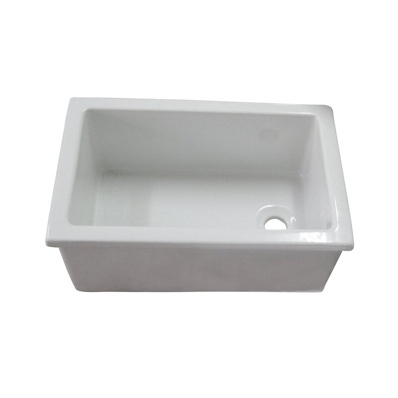 "Utility 22.75"" x 14.75"" Drop-In/Undermount Service Sink"