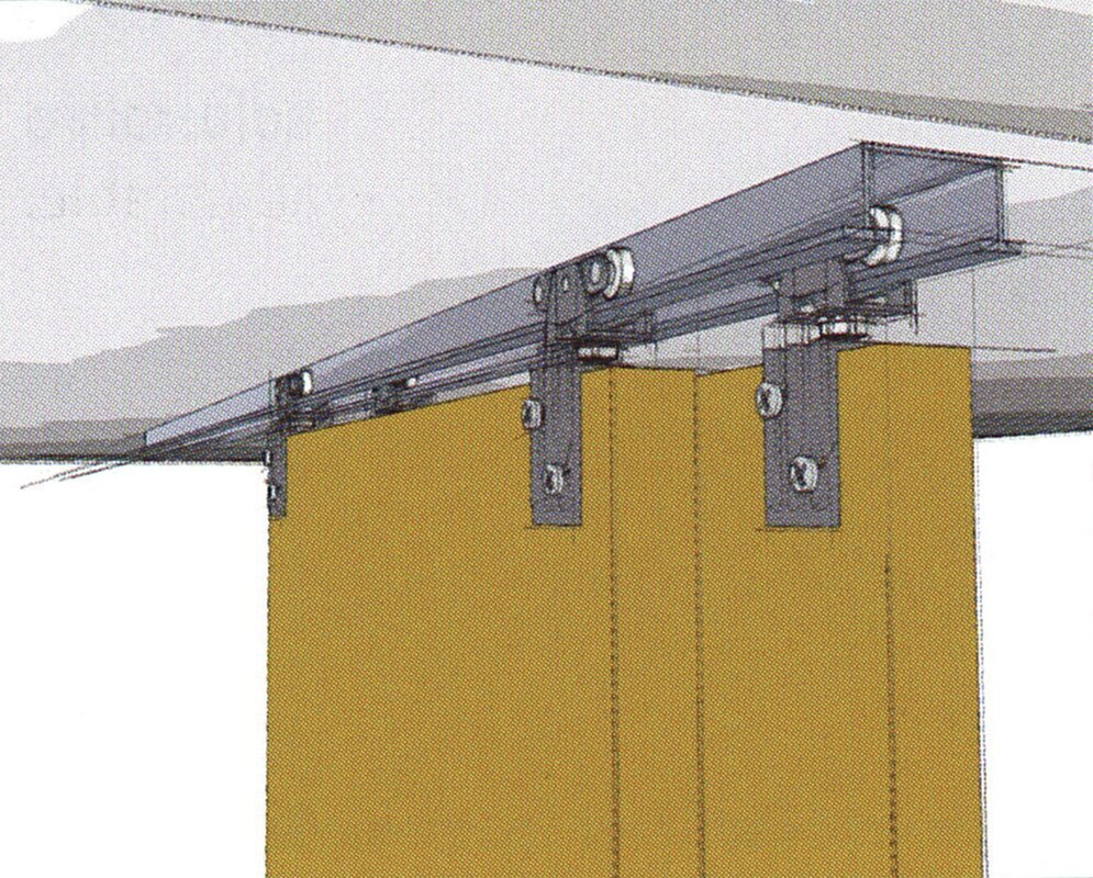 TopLine 72-138 Standard Double Barn Door Hardware Kit
