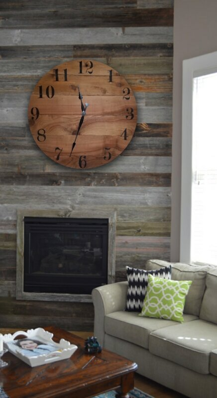 Oversized Starns Farmhouse Wall Clock