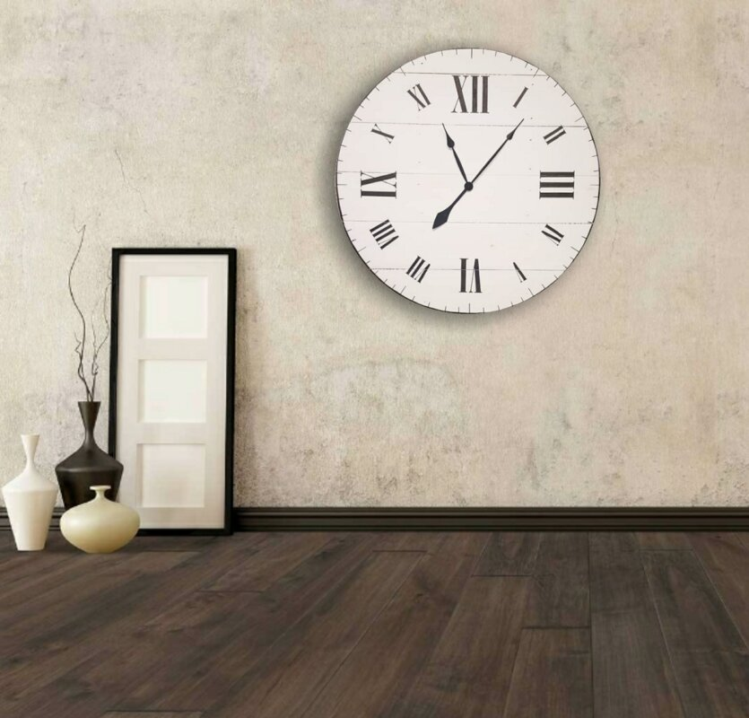 Oversized Wittig Farmhouse Wall Clock