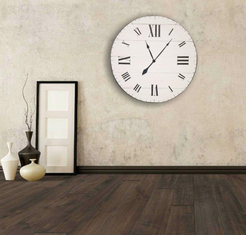 Oversized Wittig Farmhouse Wall Clock
