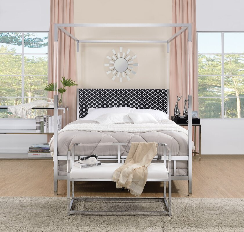 Firkins Queen Upholstered Canopy Bed