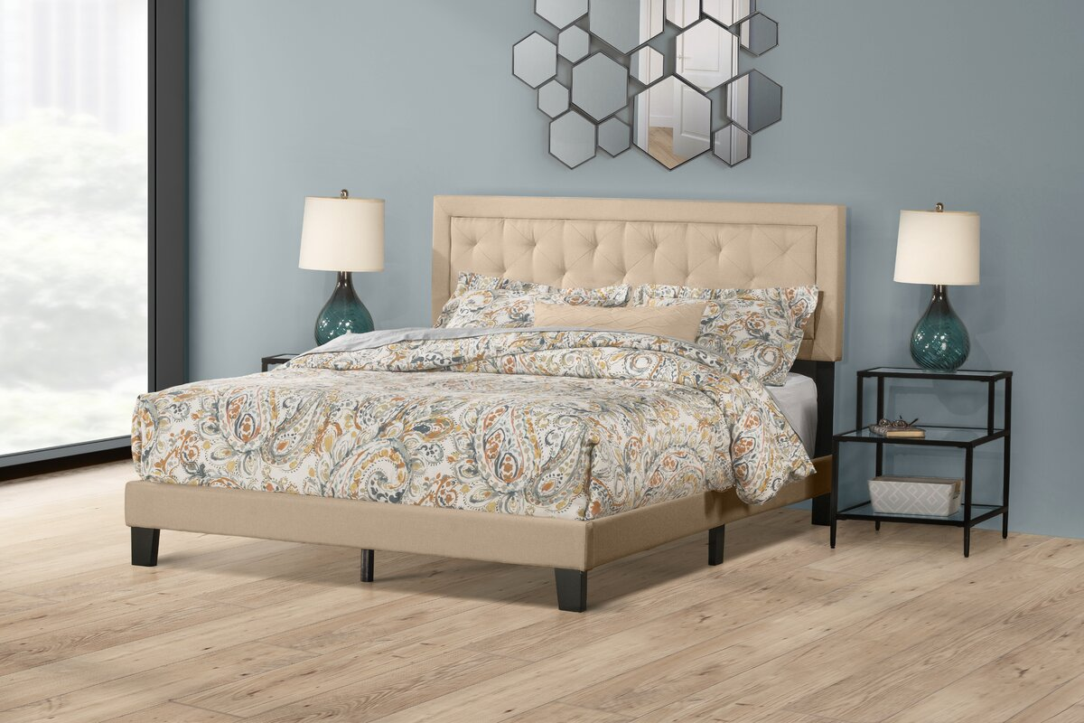 Keesler Upholstered Panel Bed