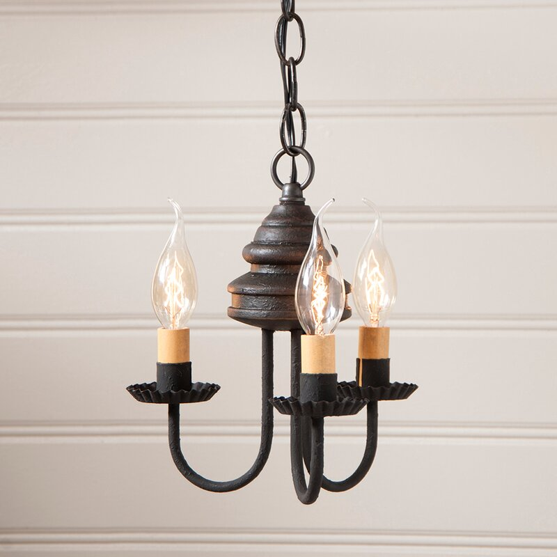 Steinman Wood 3-Light Candle Style Chandelier