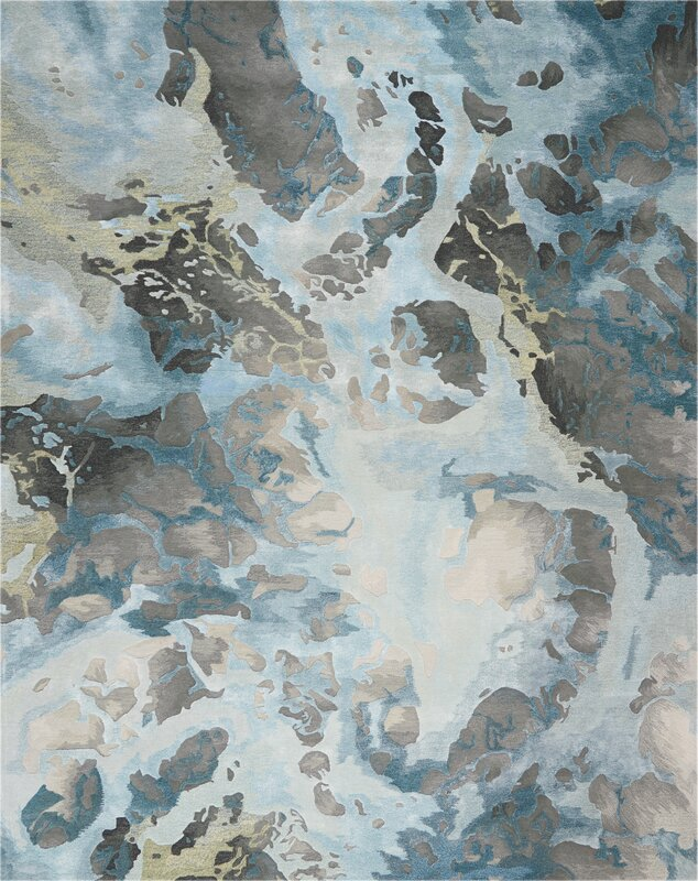 Makin Abstract Gray/Slate Area Rug