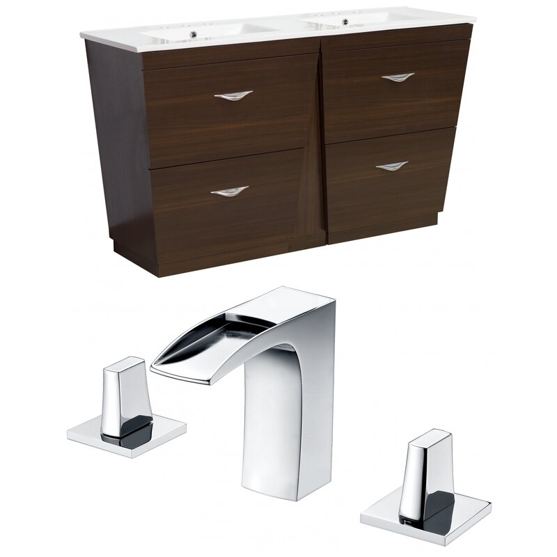 "Dudelange 48"" Double Bathroom Vanity Set"