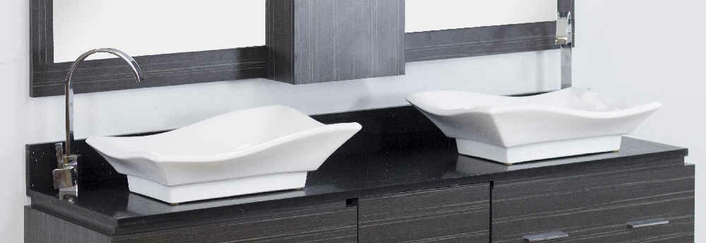 """Dunamuggy 60"""" Wall-Mounted Double Bathroom Vanity Set"""