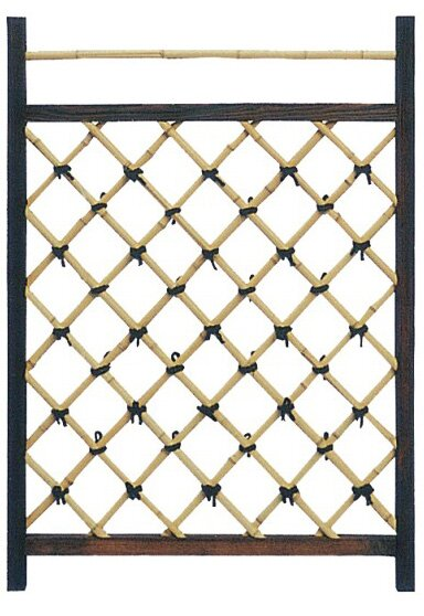 Japanese Wood Lattice Panel Trellis