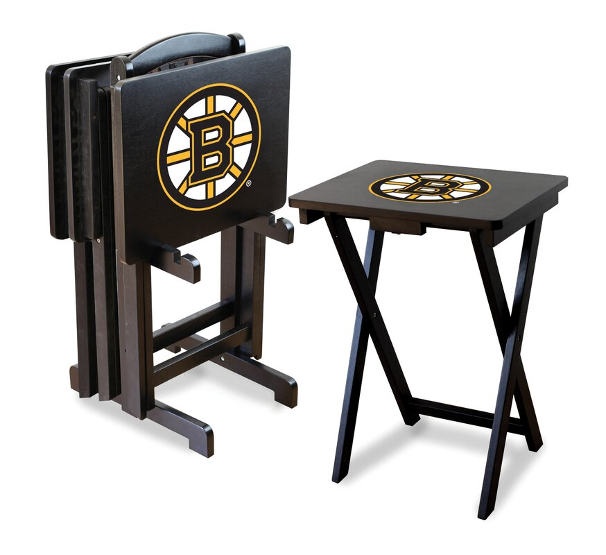 NHL TV Trays with Stand (Set of 4)