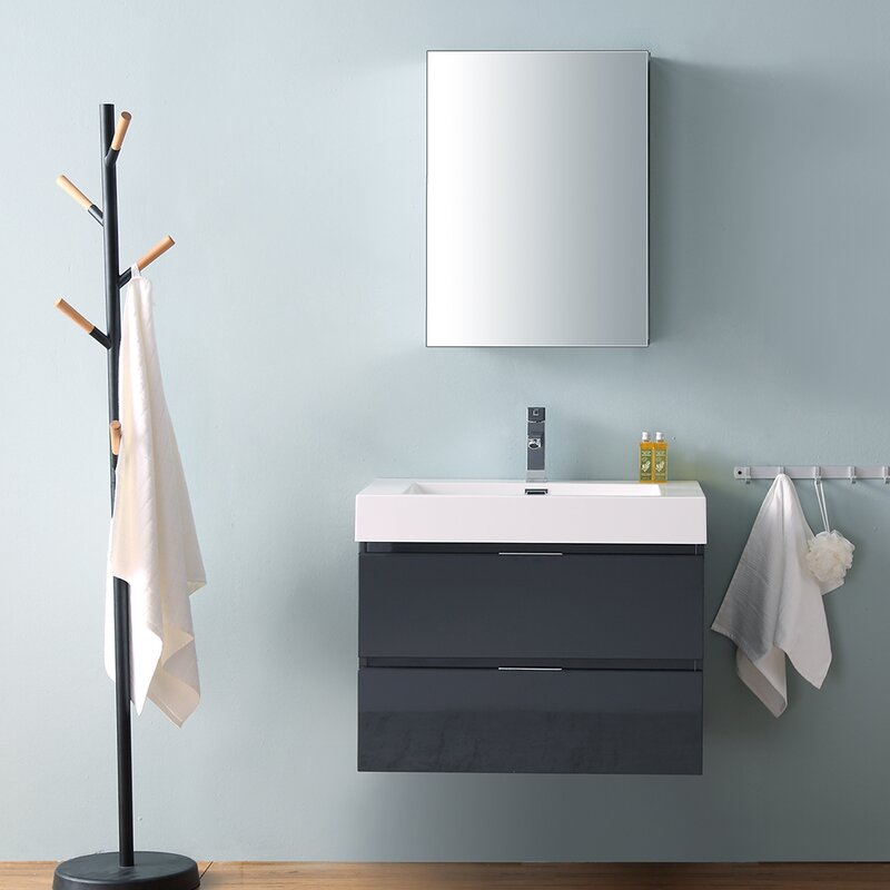 "Senza Valencia 30"" Single Bathroom Vanity Set"