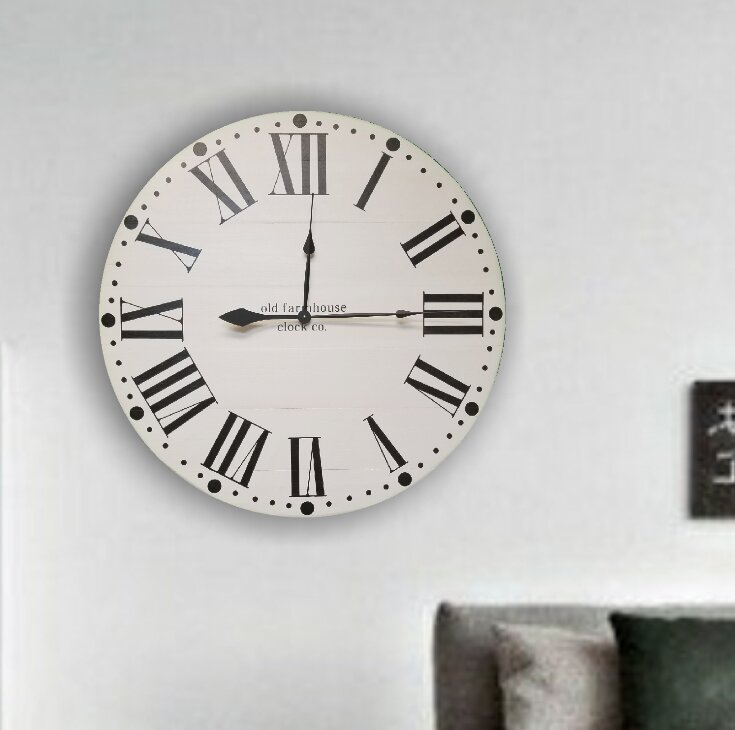 Oversized Witten Farmhouse Wall Clock