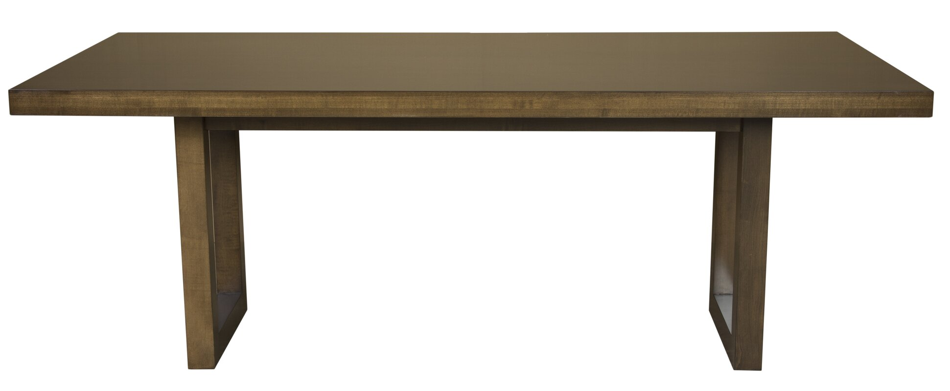 Fusco Maple Straight Edge Solid Wood Dining Table