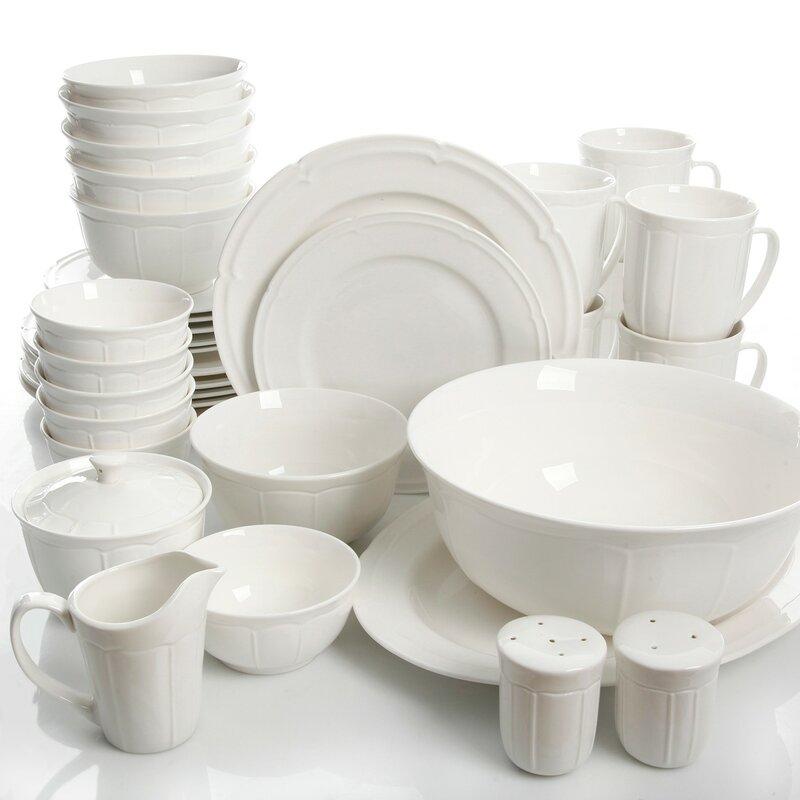Kirton 37 Piece Dinnerware Set, Service for 6