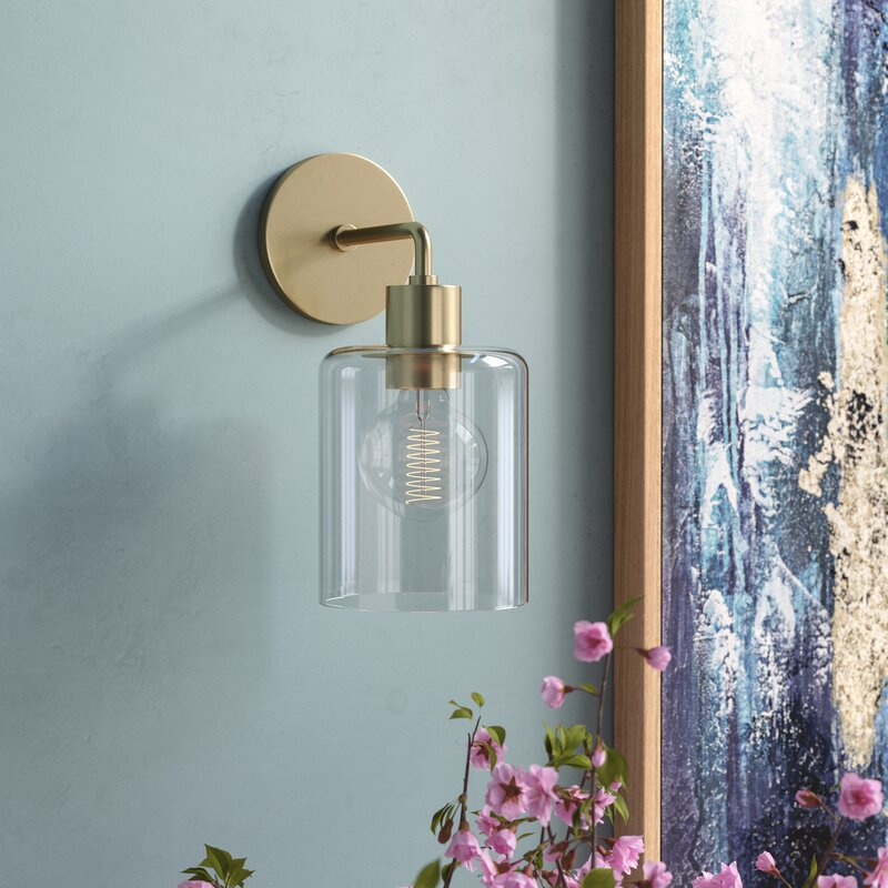 Beachmere 1-Light Armed Wall Sconce