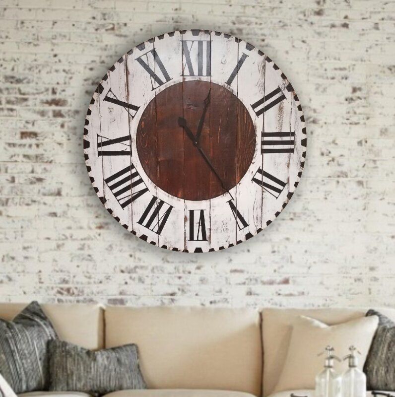 Oversized Edford Farmhouse Wall Clock