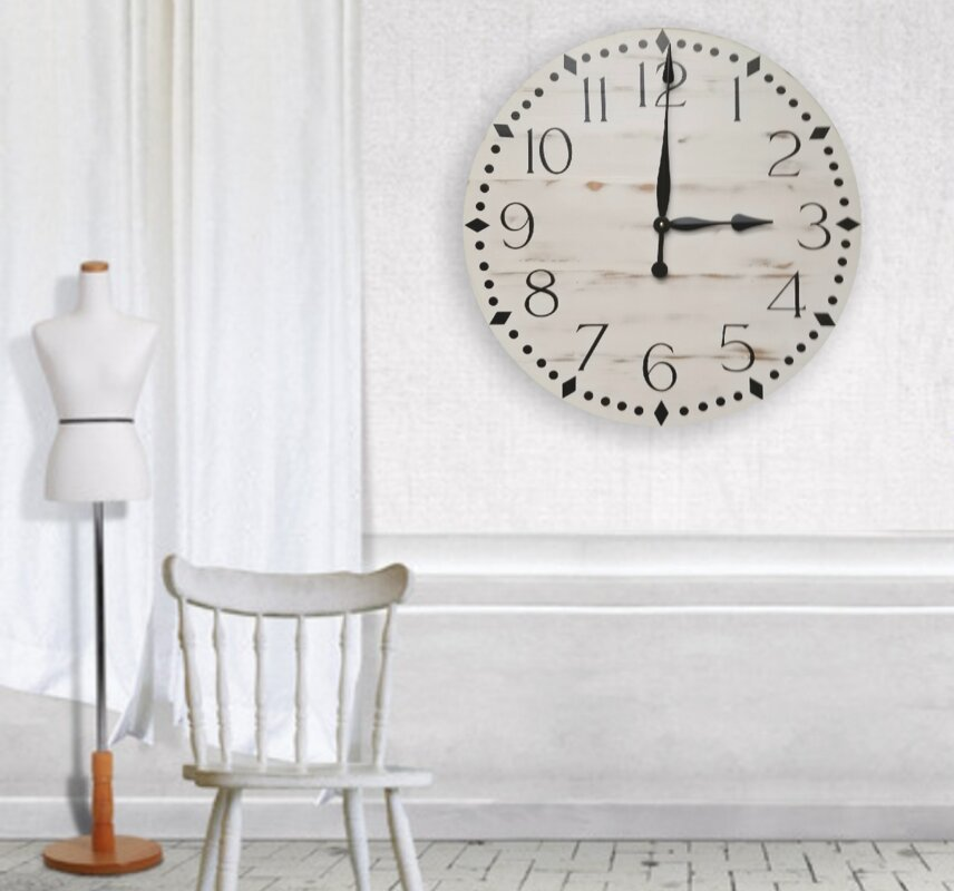 Oversized Ostergren Farmhouse Wall Clock