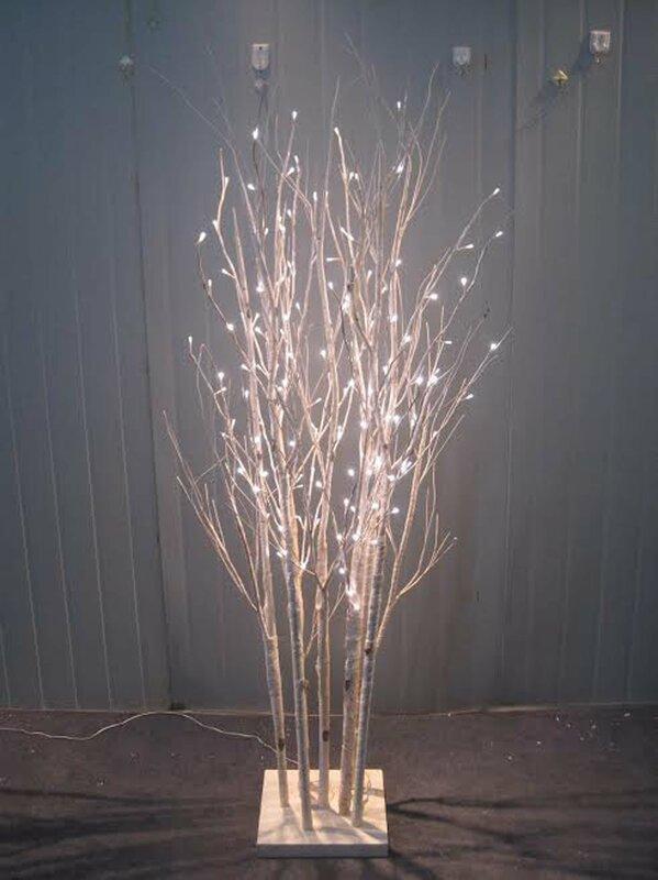 160 LED Light Birch Tree