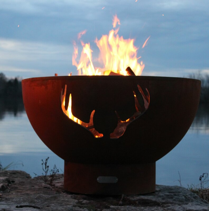 Antlers Steel Propane Fire Pit