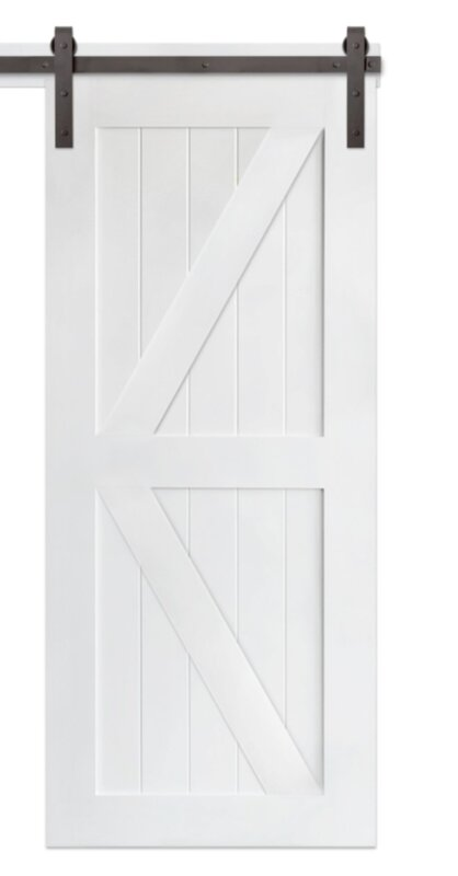 Paneled Wood Classic Barn Door without Installation Hardware Kit