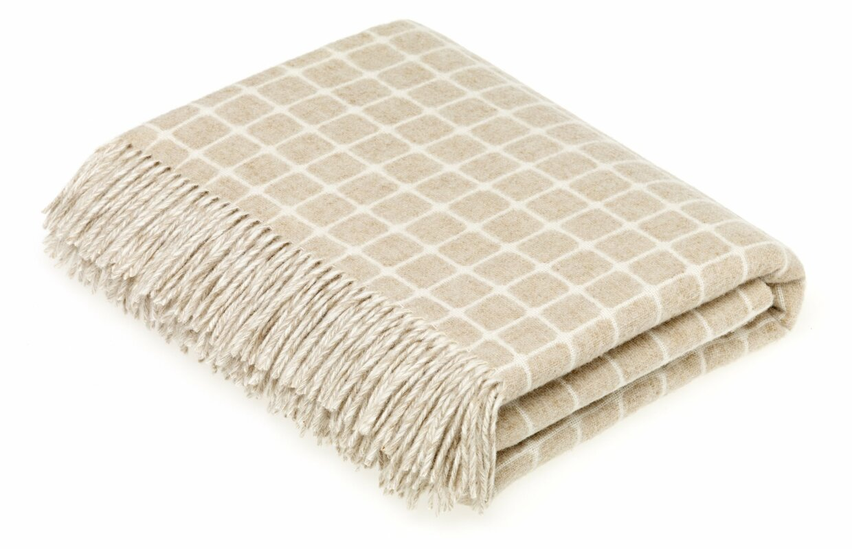 Bruner Merino Check Wool Throw