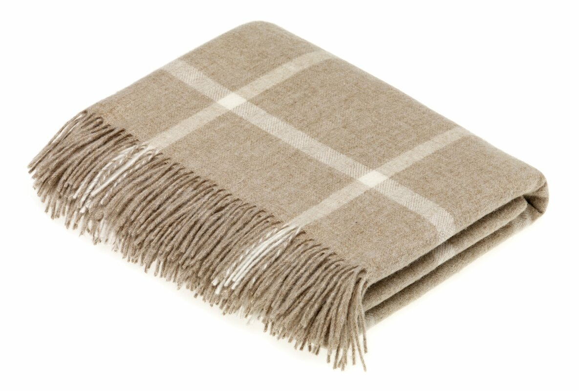 Buch Merino Windowpane Wool Throw