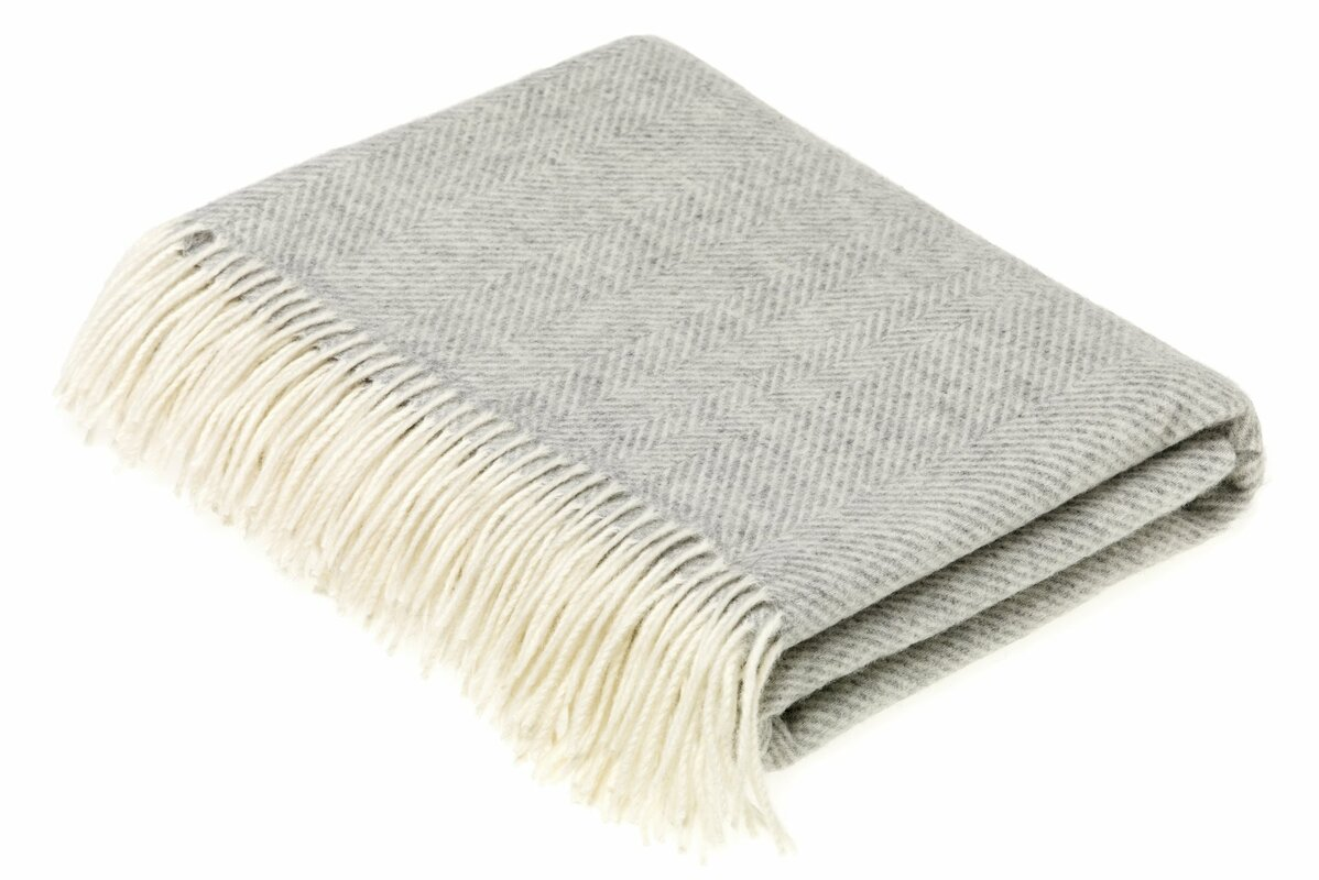 Lucchesi Merino Herringbone Wool Throw