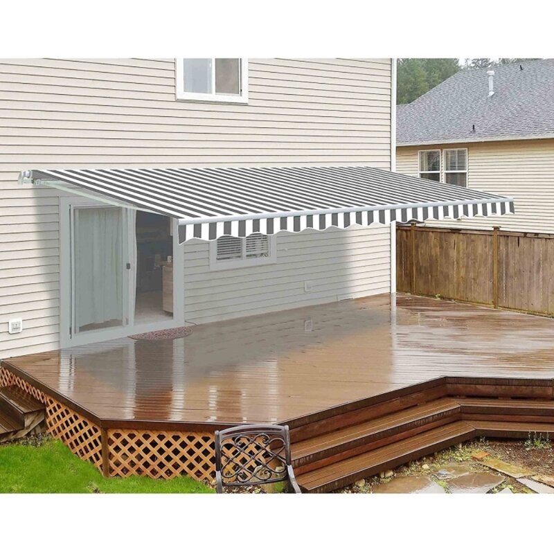 12ft. W x 10ft. D Retractable Patio Awning