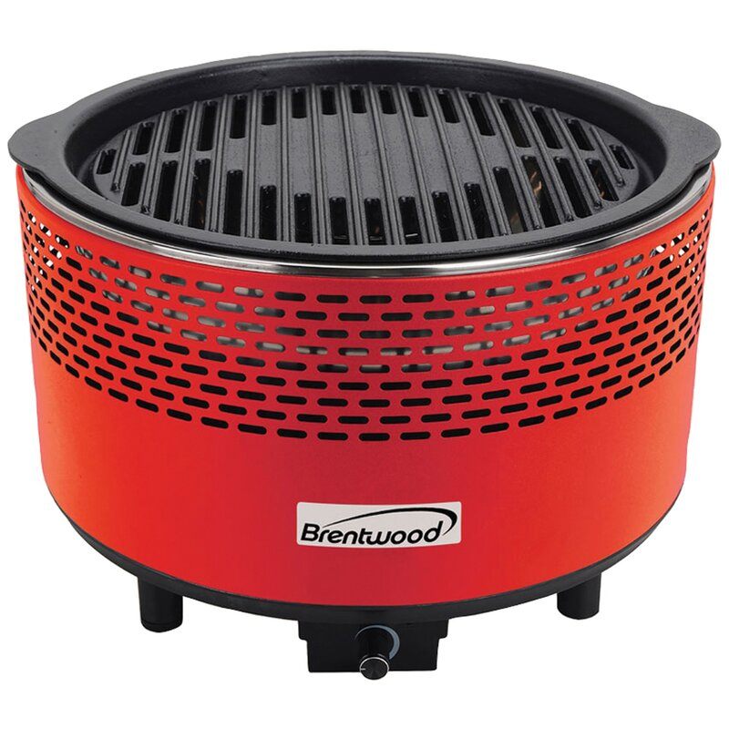 "14"" Smokeless BBQ Portable Charcoal Grill"