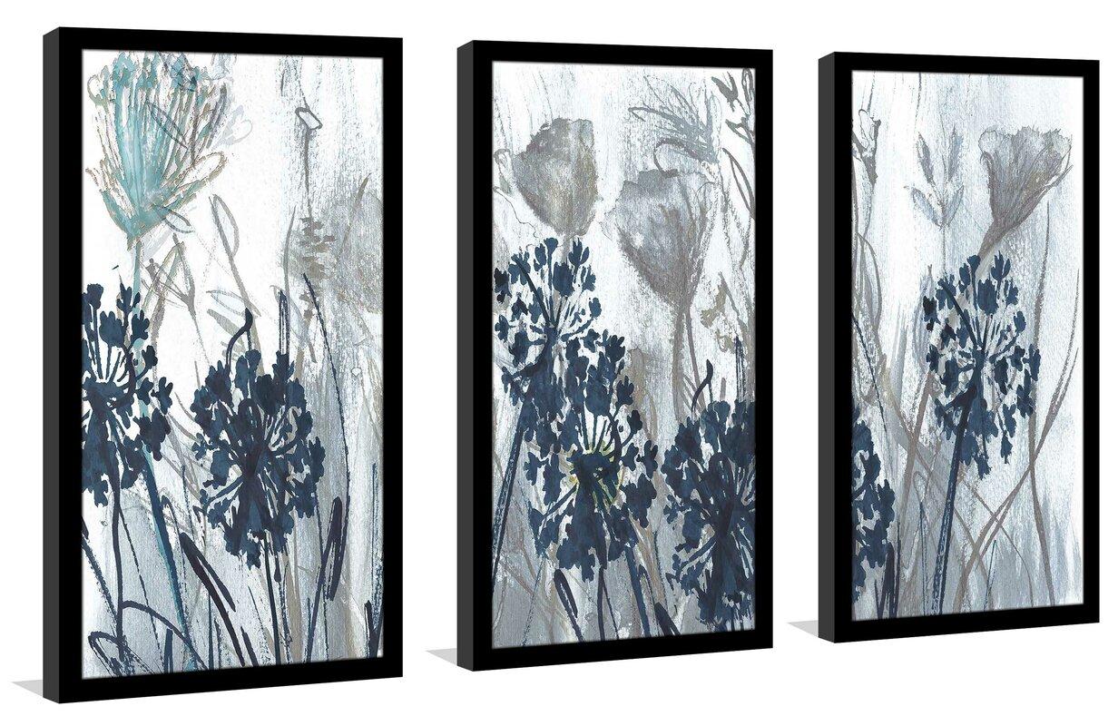 'Indigo Field' Acrylic Painting Print Multi-Piece Image