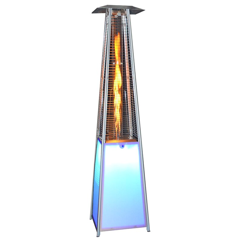 LED Light Portable 40,000 BTU Propane Patio Heater